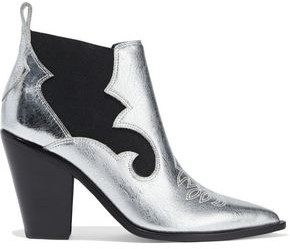 Sigerson Morrison Kaleb Metallic Textured-leather Ankle Boots