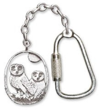 Baxters Jewellers Sterling Silver Barn Owl Key Ring