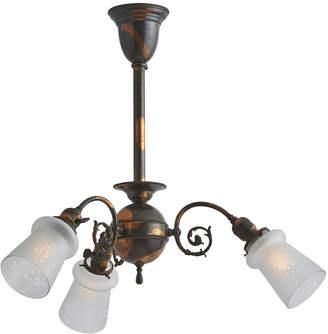 Rejuvenation 3-Light Victorian Chandelier w/ Japanned Copper