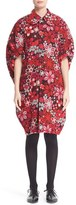 Comme des Garcons Women's Floral Embroidered Cape Sleeve Coat