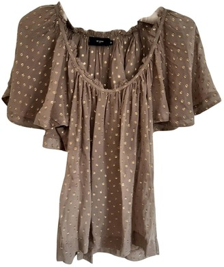 Et Vous Brown Silk Top for Women