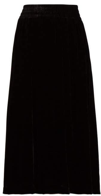 Golden Goose Cassiopea High Rise Velvet Skirt - Womens - Black