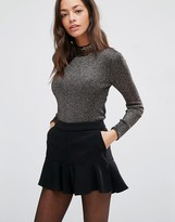 Oasis Embellished High Neck Knit Top