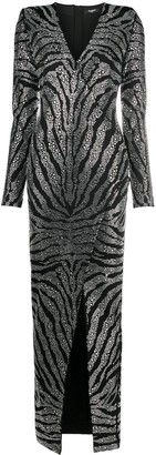 Balmain Crystal Embellished Fitted Dress