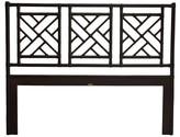 David Francis Furniture Chippendale Open-Frame Headboard Size: King, Color: Black