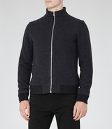 Reiss Reiss Reggie - Wool Zip Jacket In Blue