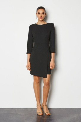 Karen Millen Strong Shoulder Zip Detail Dress