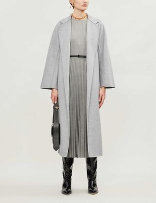 Max Mara Tie-belt wool-blend coat