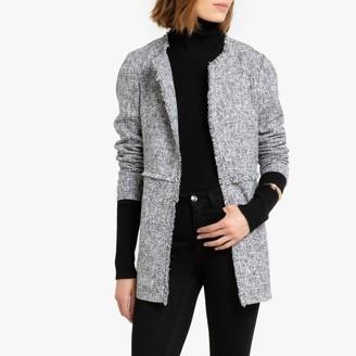 Vero Moda Fringed Collarless Jacket with Pockets