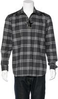 Givenchy 2015 Star Plaid Flannel Shirt