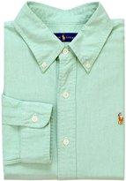 Ralph Lauren Mens Cotton Monogram Button-Down Shirt Green XXL