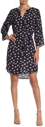 Collective Concepts Tie Waist 3/4 Sleeve Dress