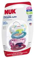 NUK Pacifiers, Orthodontic, Natural Shape, Silicone, 6-18M, 2 ct (Pack of 4) by