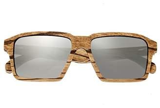 Earth Wood Piha Sunglasses W/Polarized Lenses - Zebrawood/Black