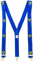 Gosha Rubchinskiy embroidered logo braces