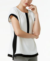 Alfani Colorblocked Boxy Top, Only at Macy's