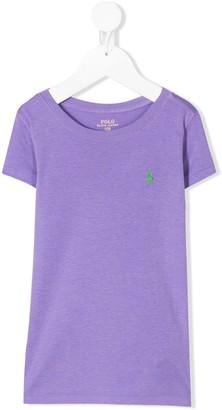 Ralph Lauren Kids short sleeve embroidered logo T-shirt