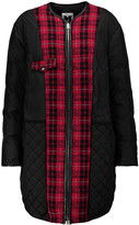 M Missoni Plaid-trimmed shell down coat