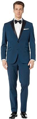 Kenneth Cole Reaction Techni-Cole Stretch Notch Collar Tuxedo (Blue) Men's Suits Sets