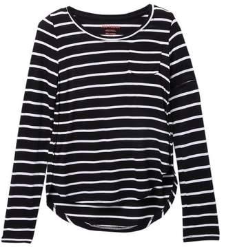 Joe Fresh Stripe Long Sleeve Top (Big Girls)