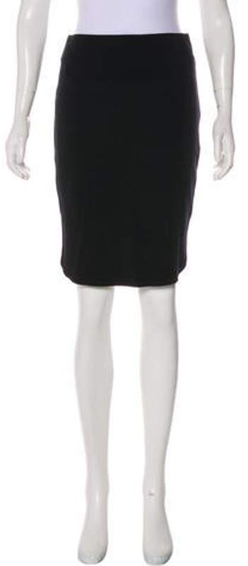 Thierry Mugler Pencil Knee-Length Skirt w/ Tags Black Pencil Knee-Length Skirt w/ Tags