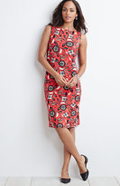 J. Jill Sleeveless Printed Knit Dress