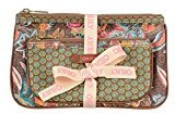 Oilily Jatin Flowers Flat Cosmetic Bag Package in Bronze