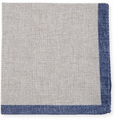Neiman Marcus Reversible Silk-Cotton Pocket Square