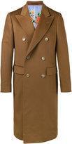 Gucci double breasted classic coat - men - Silk/Cashmere - 48