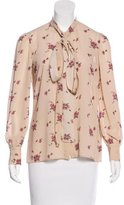 RED Valentino Floral Print Button-Up Top w/ Tags