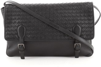 Bottega Veneta Buckle Messenger Bag Intrecciato Leather Large