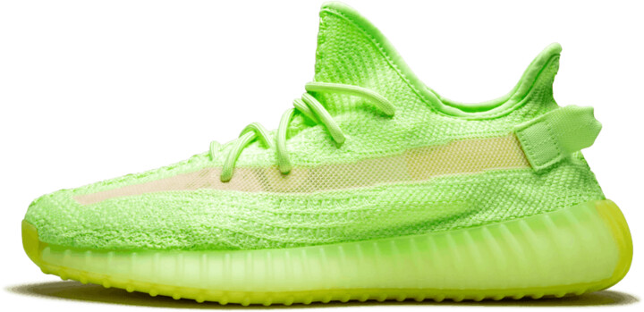 Adidas Yeezy Boost 350 V2 'Glow in the Dark' Shoes - Size 4