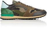 Valentino Men's Camouflage Rockrunner Sneakers-GREEN