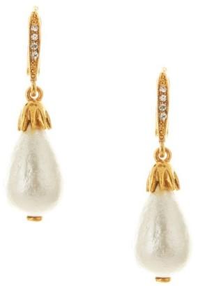 Oscar de la Renta Classic Small Faux-Pearl & Goldtone Drop Earrings