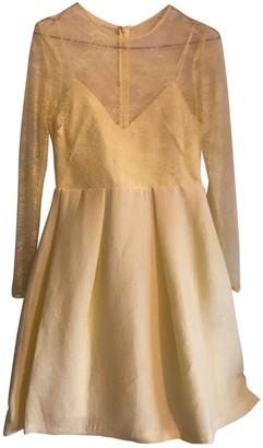Sandro Spring Summer 2019 Yellow Viscose Dresses