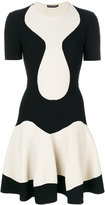 Alexander McQueen pleated mini dress - women - Polyamide/Polyester/Spandex/Elastane/Viscose - S