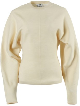 Acne Studios Over-sized Ivory Crewneck Sweater
