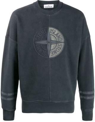 Stone Island logo panelled sweatshirt