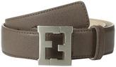 Fendi Leather Belt w/ Logo Buckle Boy's Belts
