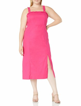 Forever 21 Women's Plus Size Ruffle-Trim Midi Dress