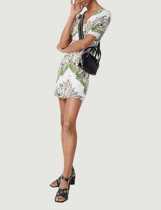 Maje Riviere floral-print silk mini dress