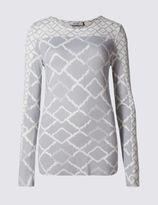 Marks and Spencer Geometric Print Chiffon Hem Tunic