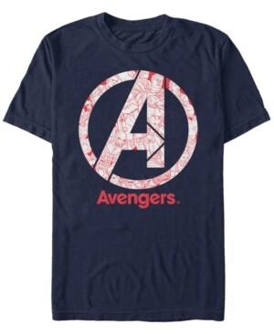 Marvel Men's Avengers Endgame Line Art Logo, Short Sleeve T-shirt