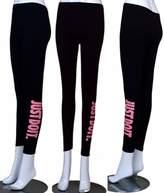 U-Shark Women's Tights Capri Yoga Running Workout Fitness Sports Leggings Pants with Gym Words Printing