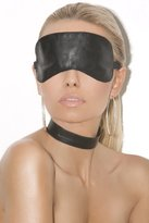 Elegant Moments Sexy Leather Blindfold - O/S