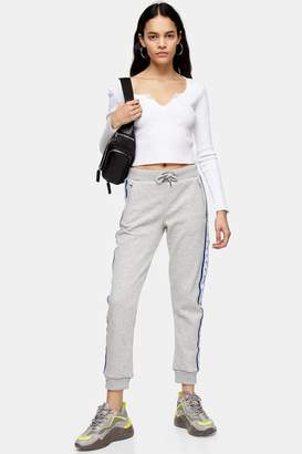 Calvin Klein Womens Tape Logo Joggers By Grey