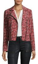 Joie Frona Floral Printed Moto Jacket