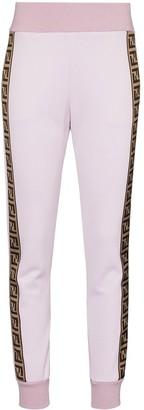 Fendi Fendirama logo-stripe track pants