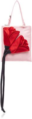 Prada Flower Embellished Raso Mini Top Handle Bag