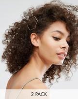 NY:LON 2 Pack Geo Hair Slides